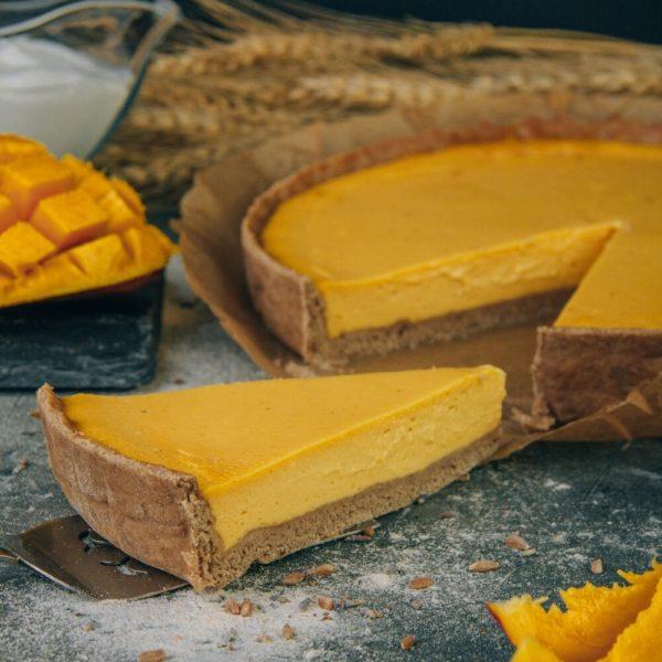 чизкейк манго без сахара веган