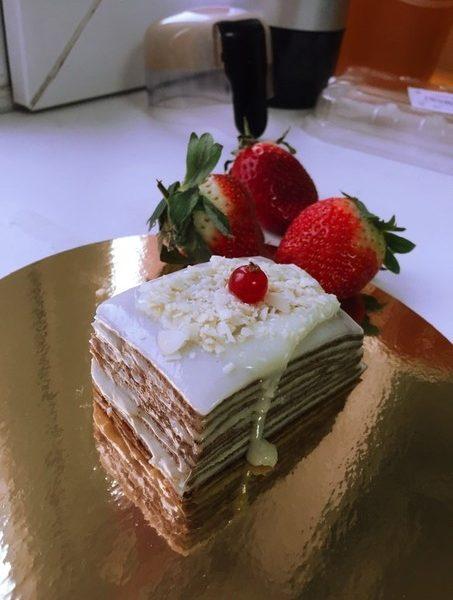 Пирожное наполеон без сахара raw 100г