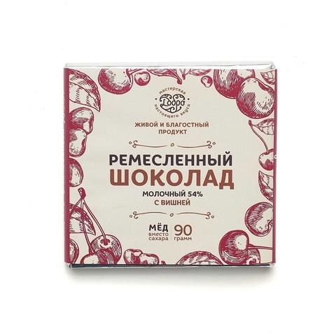 Шоколад молочный с вишней в упаковке 90г