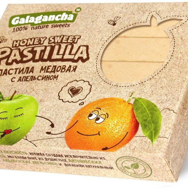 Пастила Pastilla медовая с апельсином 190г