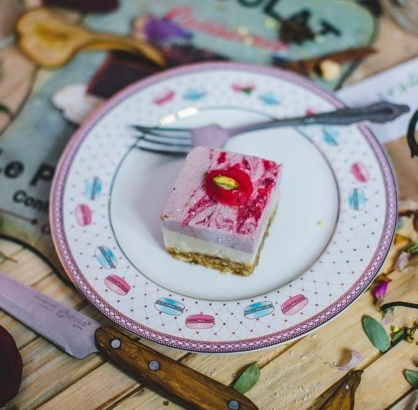 Пирожное Клубничный йогурт без сахара raw