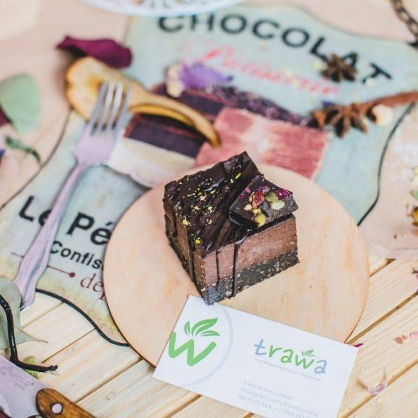 Пирожное Тройной Шоколад без сахара raw 80г