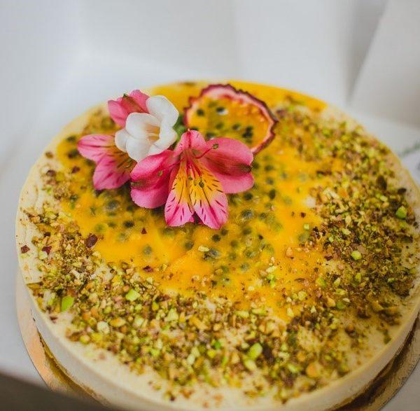 Торт Маракуйя rawcake без сахара raw