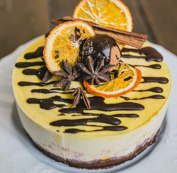 Торт Rawcake апельсин-шоколад без сахара raw