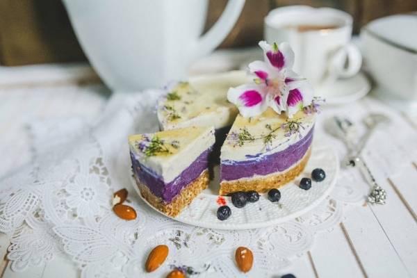 Торт Rawcake черника-лаванда без сахара raw