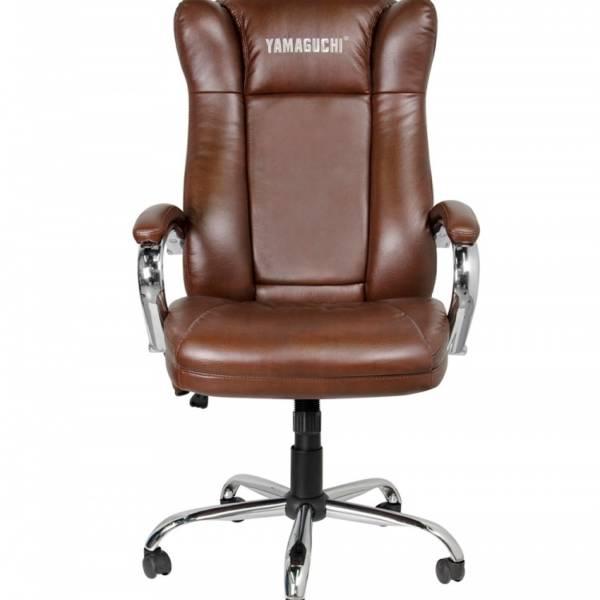 Массажное офисное кресло Yamaguchi Prestige коричневое