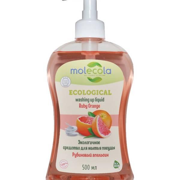 Средство для мытья посуды Ruby Orange Рубиновый апельсин 500мл Molecola