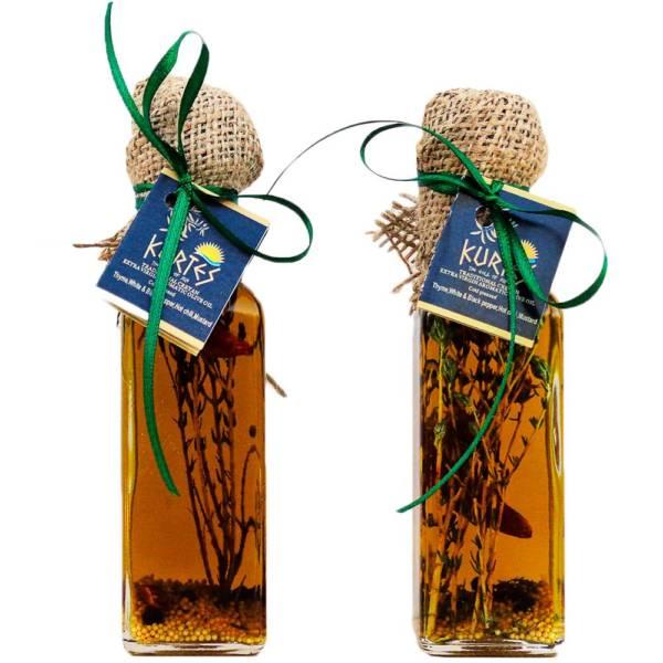 Оливковое масло Extra Virgin PDO чабрец-чили-горчица 0.1л Крит
