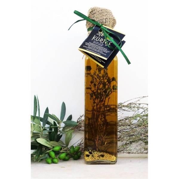 Оливковое масло Extra Virgin PDO чабрец-чили-горчица 250мл Крит