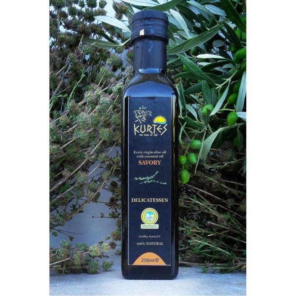 Оливковое масло Extra Virgin PDO с чабером 250мл Крит