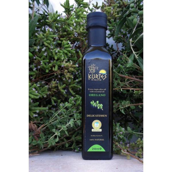Оливковое масло Extra Virgin PDO с орегано 250мл Крит
