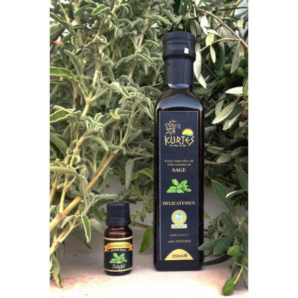 Оливковое масло Extra Virgin PDO с шалфеем 250мл Крит