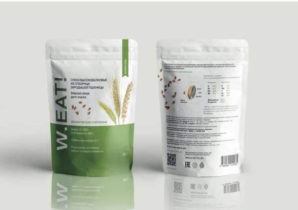 Снеки из зародышей пшеницы спирулина80г