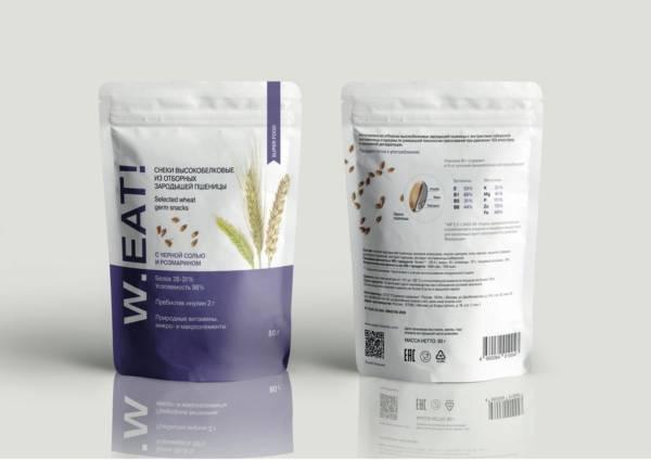 Снеки высокобелковые из зародышей пшеницы розмарин 80г