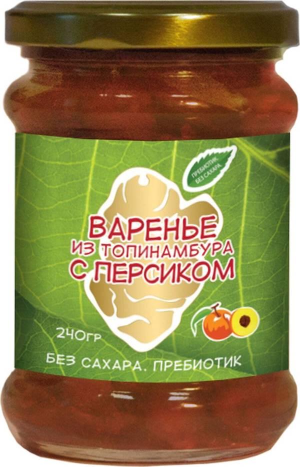 Варенье из клубней топинамбура с персиком 240г