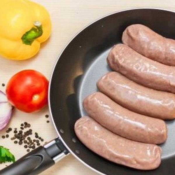 колбаски для жарки из оленины