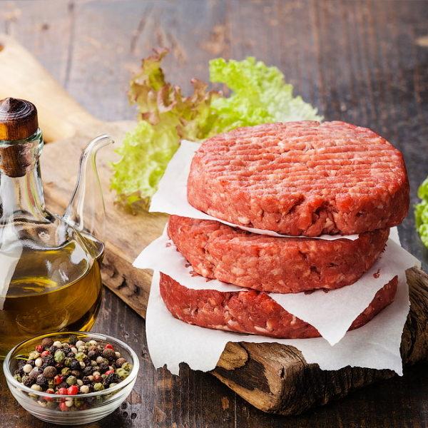 Котлеты для бургера мраморная говядина Блэк Ангус