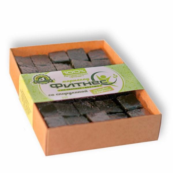 Мармелад Фитнес бех сахара со спирулиной (коробка 0,330кг)