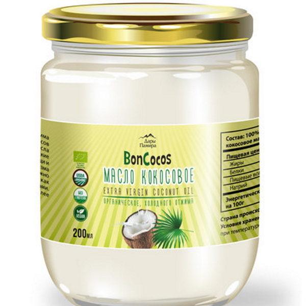 Масло кокосовое Extra Virgin органика BONCOCOS 200мл Шри-Ланка