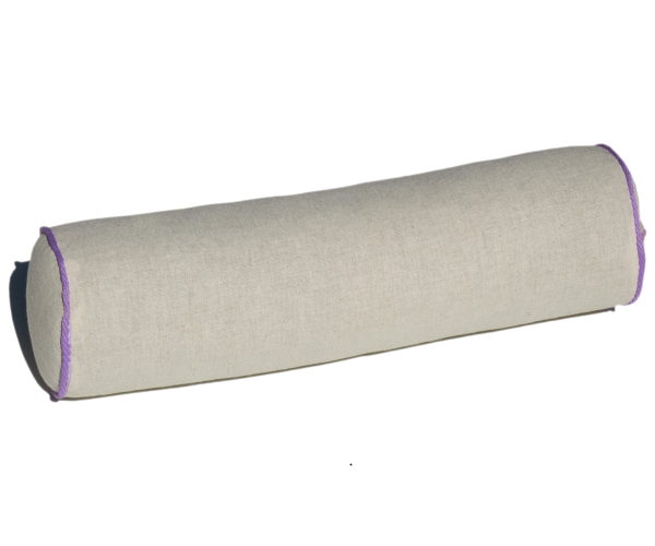 Валик подушка Релакс-Арома с лузгой гречихи и лавандой 40*10см