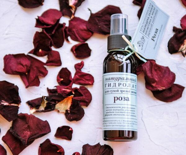 Гидролат Роза для сухой кожи омолаживающий ручной работы 100мл