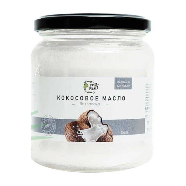 Масло кокосовое органик рафинированное 450мл TWISTTHEPLANET