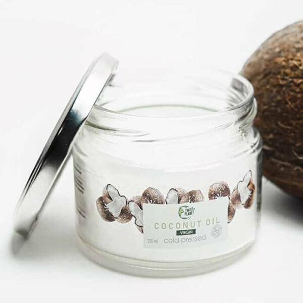 Масло кокосовое органик нерафинированное 250мл TWISTTHEPLANET